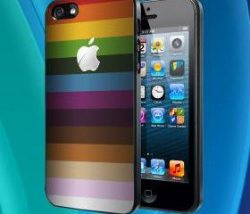 rainbow apple iphone case 10 - iPhone 4 Case iPhone 4S Case iPhone 5 Case iPhone 4 / 4S / 5